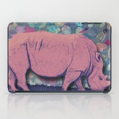 Pink Rhinoceros Collage iPad Case