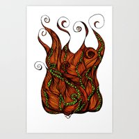 Vine Head Art Print