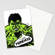 Hulk loves Monday Stationery Cards