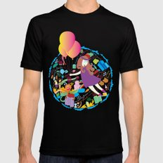 Ambrosia with balloon SMALL Black Mens Fitted Tee
