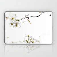 blossoming white Laptop & iPad Skin