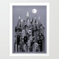 Nightbears Art Print
