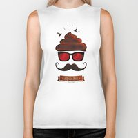 Hipster Hat Biker Tank