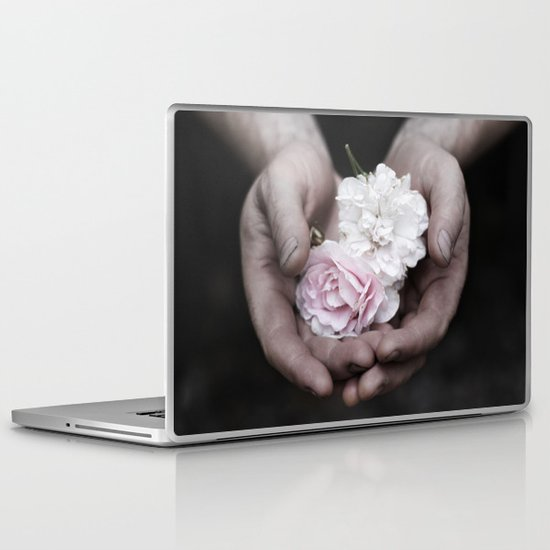 The wild flowers grows here Laptop & iPad Skin