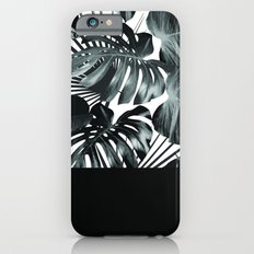 Palm Leaves and Black Slim Case iPhone 6s