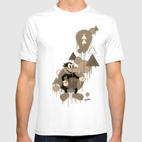Vickey Vulture Vintage (… Mens Fitted Tee White SMALL