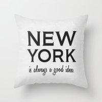 New York Poster 01 Throw Pillow