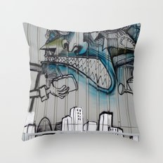 The man who rules BCN Throw Pillow
