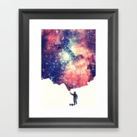 Framed Art Print featuring Painting The Universe by Badbugs_art