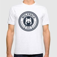 WOLPACK BROS Mens Fitted Tee Ash Grey SMALL