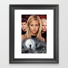 Buffy The Vampire Slayer  Framed Art Print