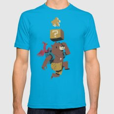 banjo block Mens Fitted Tee Teal SMALL