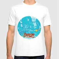 Adventure Time! SMALL Mens Fitted Tee White