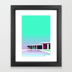 Less than zero Framed Art Print
