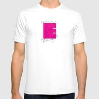 E (abstract geometrical type) Mens Fitted Tee White SMALL