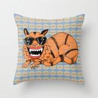 Kickflip Cat Throw Pillow