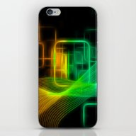 Abstract Glowing Lines iPhone & iPod Skin