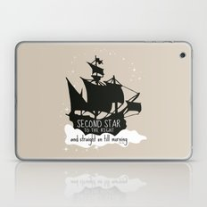Second star to the right and straight on till morning - Peter Pan Inspired Art Print  Laptop & iPad Skin