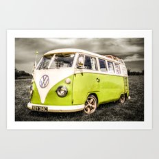 VW campervan Art Print