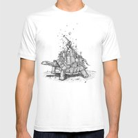 Tortoise Town Mens Fitted Tee White SMALL