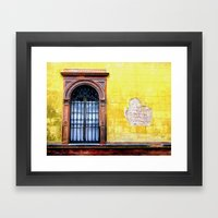 Yellow Window Framed Art Print