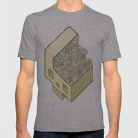 FlowerSkull Mens Fitted Tee Athletic Grey SMALL