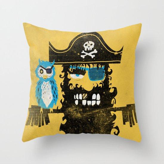 Trendy Pirate  Throw Pillow