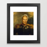 Framed Art Print featuring Clint Eastwood - Replace… by Replaceface