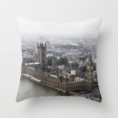 Big Ben from the London Eye Throw Pillow