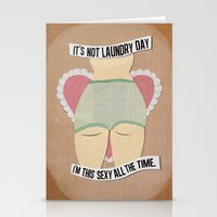 Laundry Daze Stationery Cards
