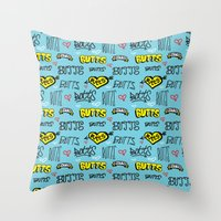 Butts Pattern Throw Pillow