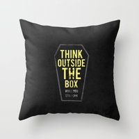 Think Outside The Box, W… Throw Pillow