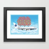 Happy Plane Framed Art Print