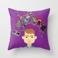 Throw Pillow featuring Nerd by Mouki K. Butt