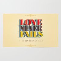 Love Never Fails! Rug