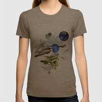 Yellow Birds Womens Fitted Tee Tri-Coffee SMALL