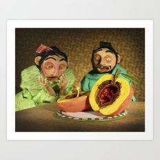 The Fortuitous Little Peachling Art Print
