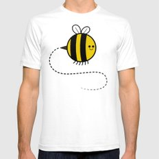 Cutesy Crawlies — Bumblebee Mens Fitted Tee White SMALL