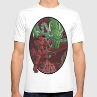 The Dragon On Mars Mens Fitted Tee White SMALL