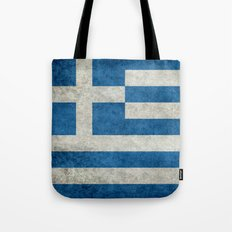 National flag of Greece - vintage retro style  Tote Bag