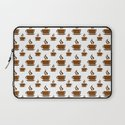 Coffee Cup Pattern Laptop Sleeve