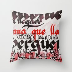 Calligraphic poster V Throw Pillow
