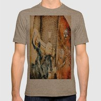 Jeanne D'ARC  Mens Fitted Tee Tri-Coffee SMALL