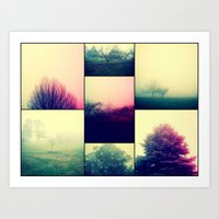 Foggy Impact Art Print
