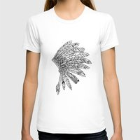 indian T-shirts featuring Indian by Andrea Eedes