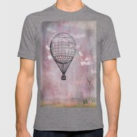 Air balloon Mens Fitted Tee Tri-Grey SMALL