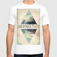 Air Pollutant Mens Fitted Tee White SMALL