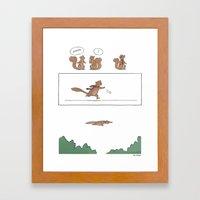 Super Squirrel  Framed Art Print