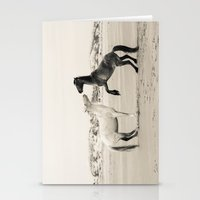Wild Horses 4 - Black An… Stationery Cards