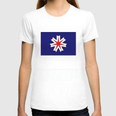hokkaido region flag japan prefecture Womens Fitted Tee White SMALL